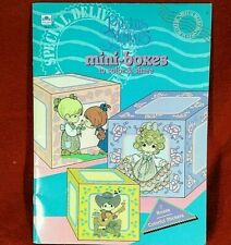 Precious Moments Mini Boxes Color and Share 7 Boxes Stickers Unpunched NEW 1992