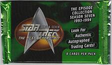 TC Star Trek Season 7 - 10 Booster Packs ; mit Autogramm Karte ?