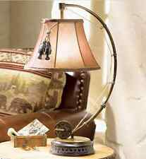 Catch Of The Day Table Lamp Fly Rod Reel Fish Rustic Cabin Lodge Fishing Decor