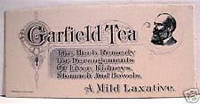 Old Garfield Tea Herb Remedy Mild Laxative Ink Blotter