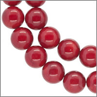 "16"" Red Bamboo Coral Round Beads 7mm A #63041"