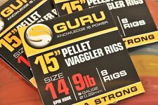 """Guru 15"""" Pellet Waggler Rigs with Bait Bands - MWG Hooks - All sizes Available"""