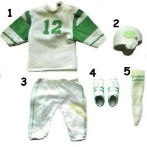 """1970 JOE NAMATH 12"""" mego figure -- FOOTBALL -- SHIRT PANTS SHOES SOCKS FACE MASK"""