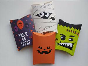 5 x Halloween Pillow Gift Boxes - 14cm [Various Designs]