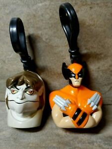 WENDYS MEAL 2001 MARVEL COMICS WOLVERINE BACKPACK CLIP ON KEYCHAINS Action Toy