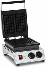 More details for royal catering professional waffle maker belgian waffles cast iron teflon 1,500w