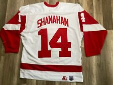 Auth Detroit Red Wings Brenden Shanahan NHL Vintage Starter Jersey Men's Sz XL