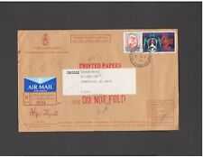 THAILAND: TH 05 / COMMERCIAL COVER WITH 16 STAMPS-CIRCULAR CANCELS-2 IMAGES.