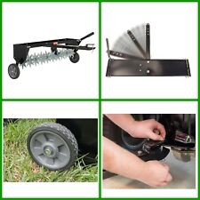Tow Behind Lawn Aerator Healthy Grass Spikes W/ Durable Tires Heavy Weight Tray