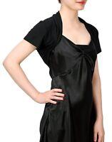 Womens Plain Short Sleeve Bolero Shrug Size S-4X Ladies Open Front Crop Cardigan