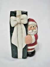 Eddie Walker Candle Holder Santa With Present Midwest of Cannon Falls