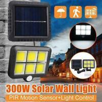 120 LED Solar Powered PIR Motion Sensor Garden Wall Outdoor Flood Security V1F6