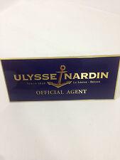 Ulysse Nardin plaque (S/R)
