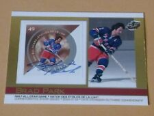 2004 Pacific Autographed BRAD PARK NY Rangers Commemorative Stamp Issued Card