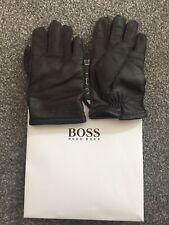 Hugo Boss Leather Gloves 8.5 9 9.5 10 S M L XL TouchTec Smartphone HUTCHS TT