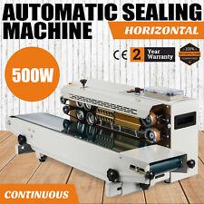 Automatic Horizontal Continuous Plastic Bag Band Sealing Machine Sealer Fr900