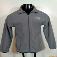 THE NORTH FACE Polyester Fleece JACKET Boys Size M Gray zippered