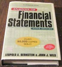 Analysis of Financial statements(5th Edition) by John J. Wild, Leopold Bernstei