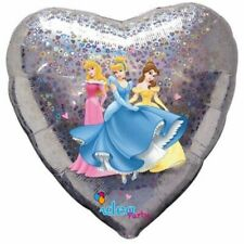 Disney Princess Heart Shaped Holographic Foil Balloon - Requires Helium - Party