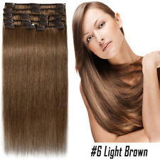US Clip in Human Remy 100% Real Hair Extensions  Full Head Thick Mix Color P580