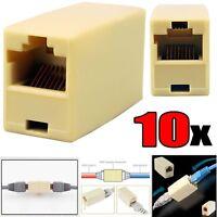 RJ45 Ethernet Network LAN Cat5e Cat6 Cable Joiner Adapter Coupler Extender Lot