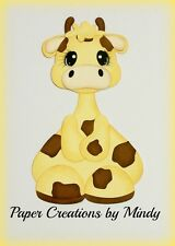 Craftecafe Mindy Zoo Safari giraffe premade Paper piecing for scrapbook page