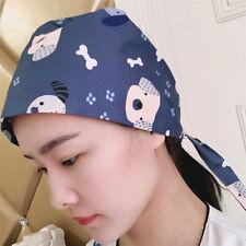 Fashion Adjustable Men Women Work Hat Doctor Nurse Colorful Printing Scrub Cap
