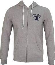 Champion Heritage Mens Full Zip Hooded Sweatshirt - Grey