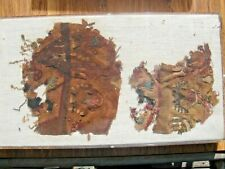 Pre Columbian Chancay 1400Ad Textile Panel Framed!