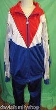 Vintage Adidas Trefoil Logo Windbreaker Pants Track Suit Red White Blue Size XL