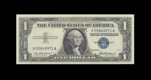 "1957 UNITED STATES SILVER CERTIFICATE $1 ""H"" (( GEM UNC ))"
