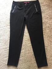 Women's Bongo skinny black w/ zippers pants trousers size 17