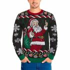 NWT Michael Gerald Men's Novelty Santa Ugly Christmas Sweater Size Large NEW!