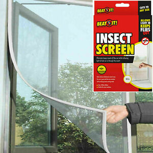 Window Screen Mesh White Net Fly Insect Mosquito Moth Bug Cover