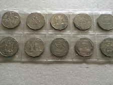 full set of c.o.f 50 cent coins all states, year 2001