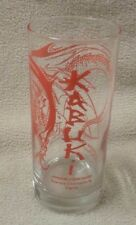 KABUKI JAPANESE STEAK HOUSE Glass Red Dragon Roanoke Christiansburg Virginia