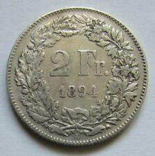 Suisse - 2 francs 1894 en argent