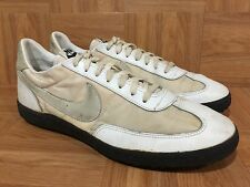 Vintage🔥 Nike Air 80's Turf Trainer White Leather Sneakers Black Soles Great LE