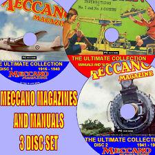 Meccano magazines collection complète & 400 + manuel / plans 3 pcdvd nouvelle collection