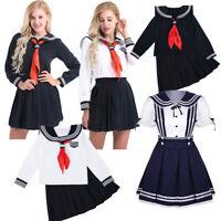 Japanese School Girl's Dress Womens Sailor Uniform Costume Cosplay Fancy Dresses