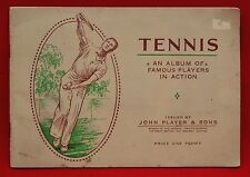 JOHN PLAYER & SONS:  TENNIS, AN ALBUM OF FAMOUS PLAYERS IN ACTION 1925 - GR COND