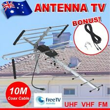 Digital TV Outdoor Antenna Aerial UHF VHF FM Signal Amplifier Booster