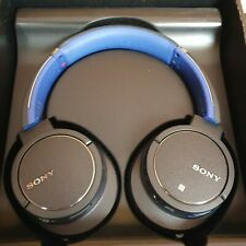 Sony MDR-ZX770BN Bluetooth Wireless Headphones.Black/Blue.Noise Cancelling.Boxed