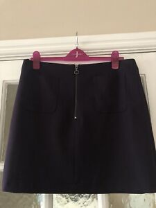 M&Co Fully Lined Plum Skirt Size 14