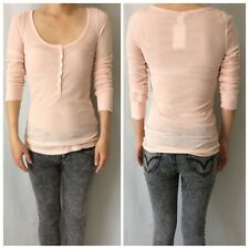 H&M Light Pink Ribbed Top - Brand New Authentic EUR S