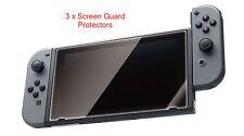 3 ULTRA TRANSPARENTES HD PET Película X Protector De Pantalla Anti-bubblefor Nintendo Interruptor