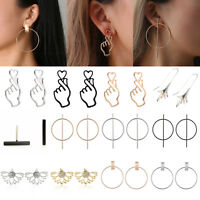 Fashion Large Circle Geometry Metal Earring Ear Stud Earrings Women Jewelry