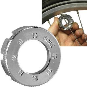 SPOKE KEY WRENCH 8 WAY BICYCLE CYCLE BIKE TRUE WHEEL FIX RIM NIPPLE SPANNER TOOL