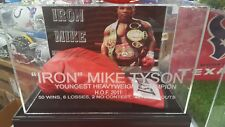 mike tyson boxing glove display case