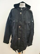I832 MENS PAUL SMITH BLACK HOODED BUTTON LIGHTWEIGHT RAIN COAT UK XL EU 54